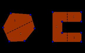 Convex vs concave polygon